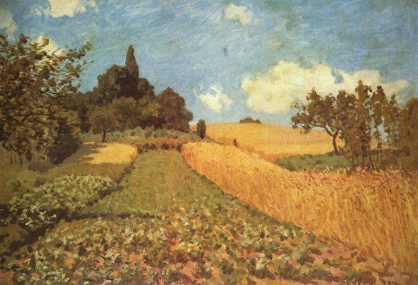 Landschaftsmalerei impressionismus  Alfred Sisley: Kornfeld