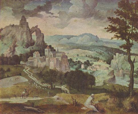 Landschaftsmalerei renaissance  Cornelis Massys: Hl. Hieronymus in einer Landschaft