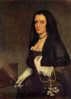 Diego Velázquez: Porträt einer Dame mit Fächer Felipe Foole Schilder