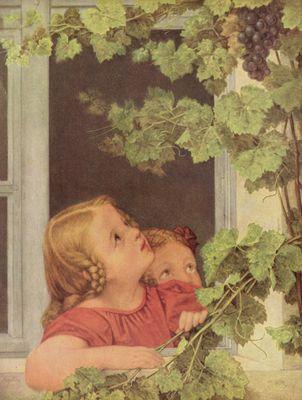 Georg friedrich kersting kinder am fenster - Quadri con finestre ...