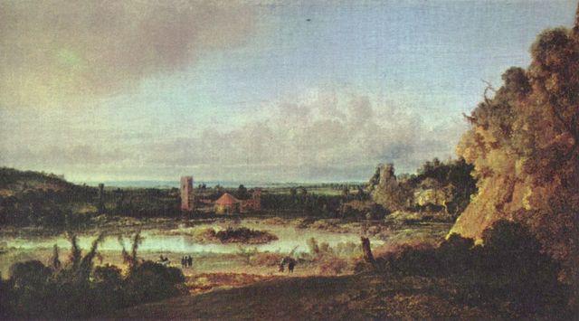 Landschaftsmalerei barock  Hercules Seghers: Landschaft