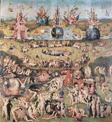 Hieronymus Bosch Der Garten Der Lüste Mitteltafel Der Garten Der