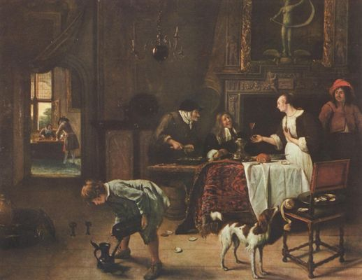 Jan Steen: Wie gewonnen, so zerronnen
