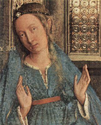 Jungfrau Maria Jan van Eyck - handgemalt24de