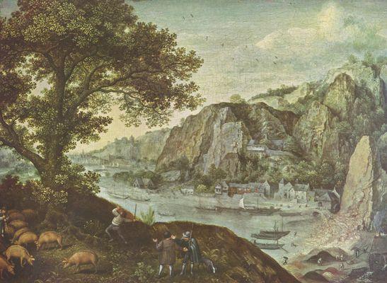 Landschaftsmalerei renaissance  Lucas van Valckenborch: Landschaft