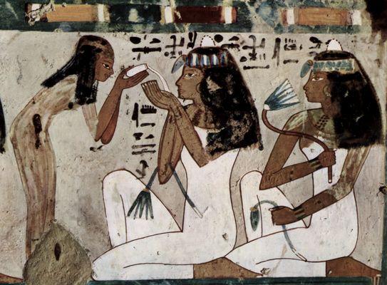 CUENTO (Las dos velas y el Nilo) I Maler-der-grabkammer-des-thot-grabkammer-des-thot-oberaufseher-des-hohepriesters-des-amun-szene-gastmahl-detail-05879