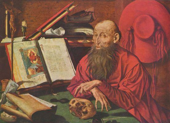 Großbild: Marinus Claesz. van Reymerswaele: Hl. Hieronymus