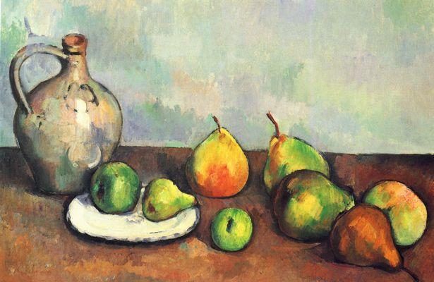 Paul Cézanne: Stilleben, Krug und Früchte