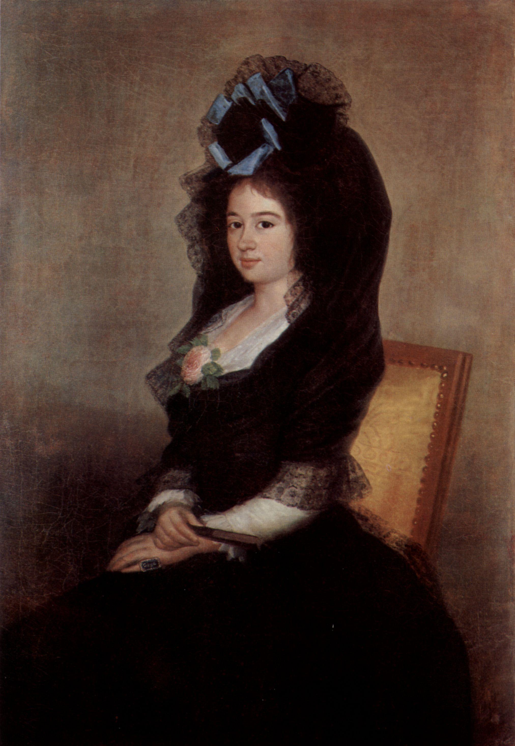 Mantilla en el siglo XVIII
