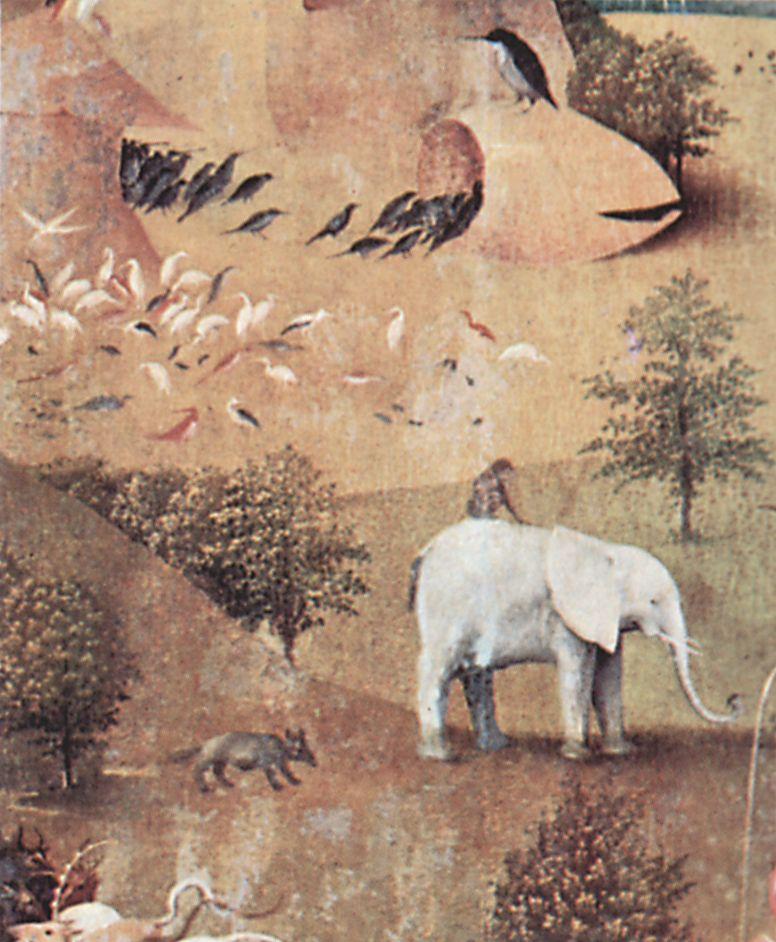Großbild: Hieronymus Bosch: Der Garten der Lüste, linker ...