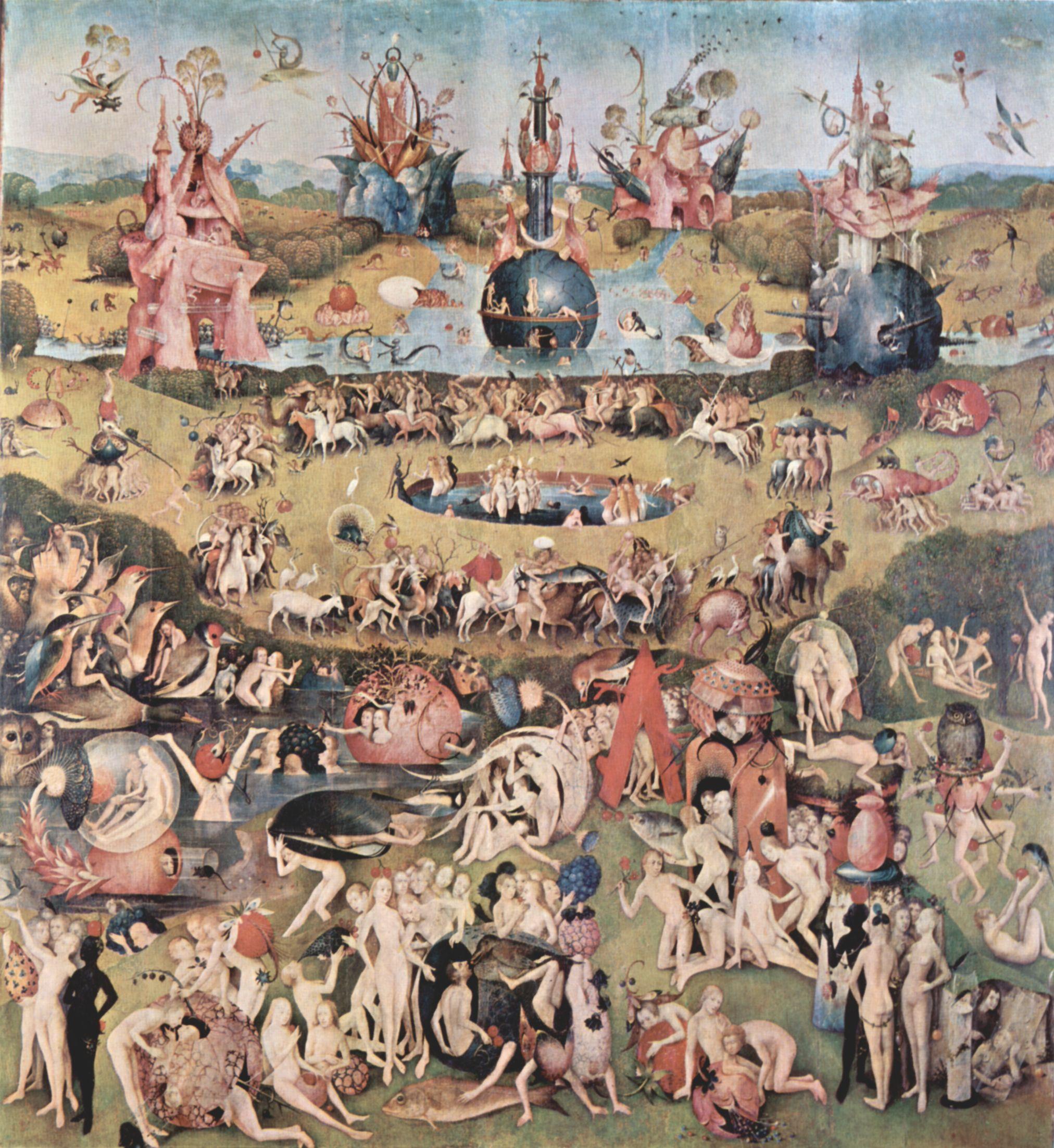 Grossbild Hieronymus Bosch Der Garten Der Luste Mitteltafel Der