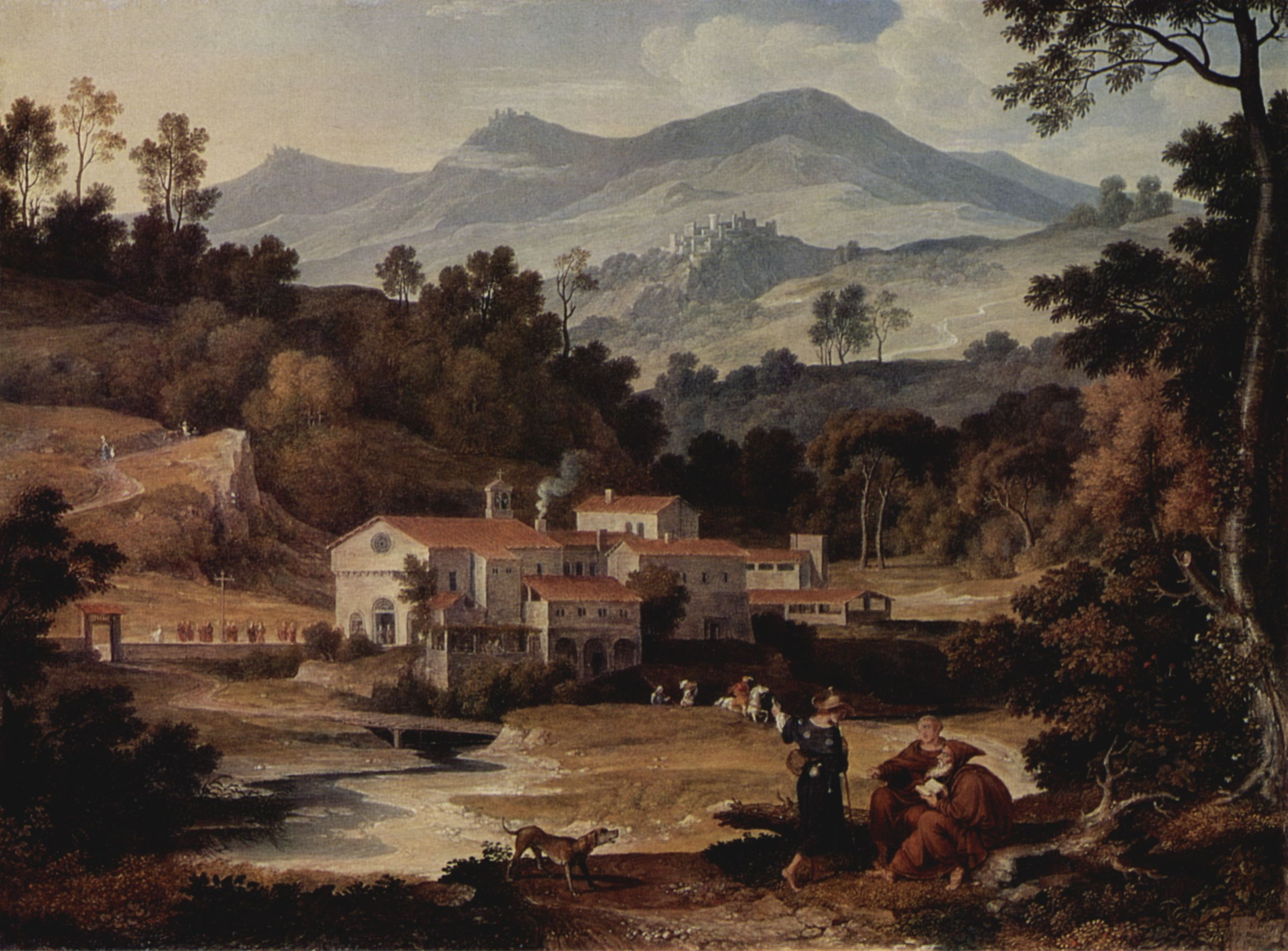 joseph anton koch das kloster san francesco im sabinergebirge bei rom