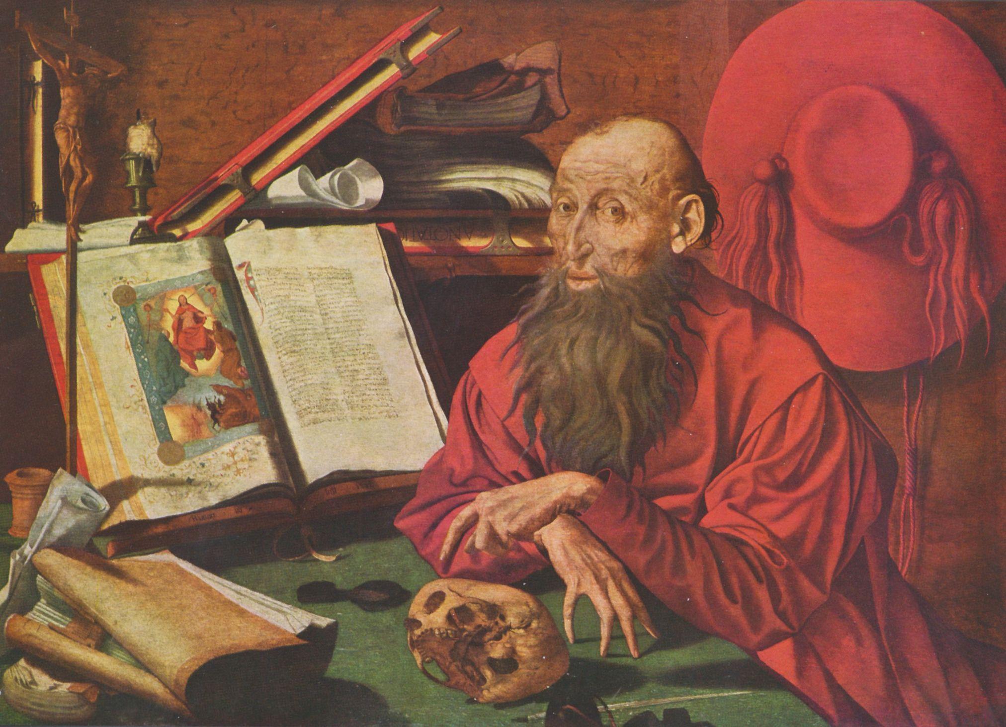 Marinus Claesz. van Reymerswaele - Hl. Hieronymus in einer
