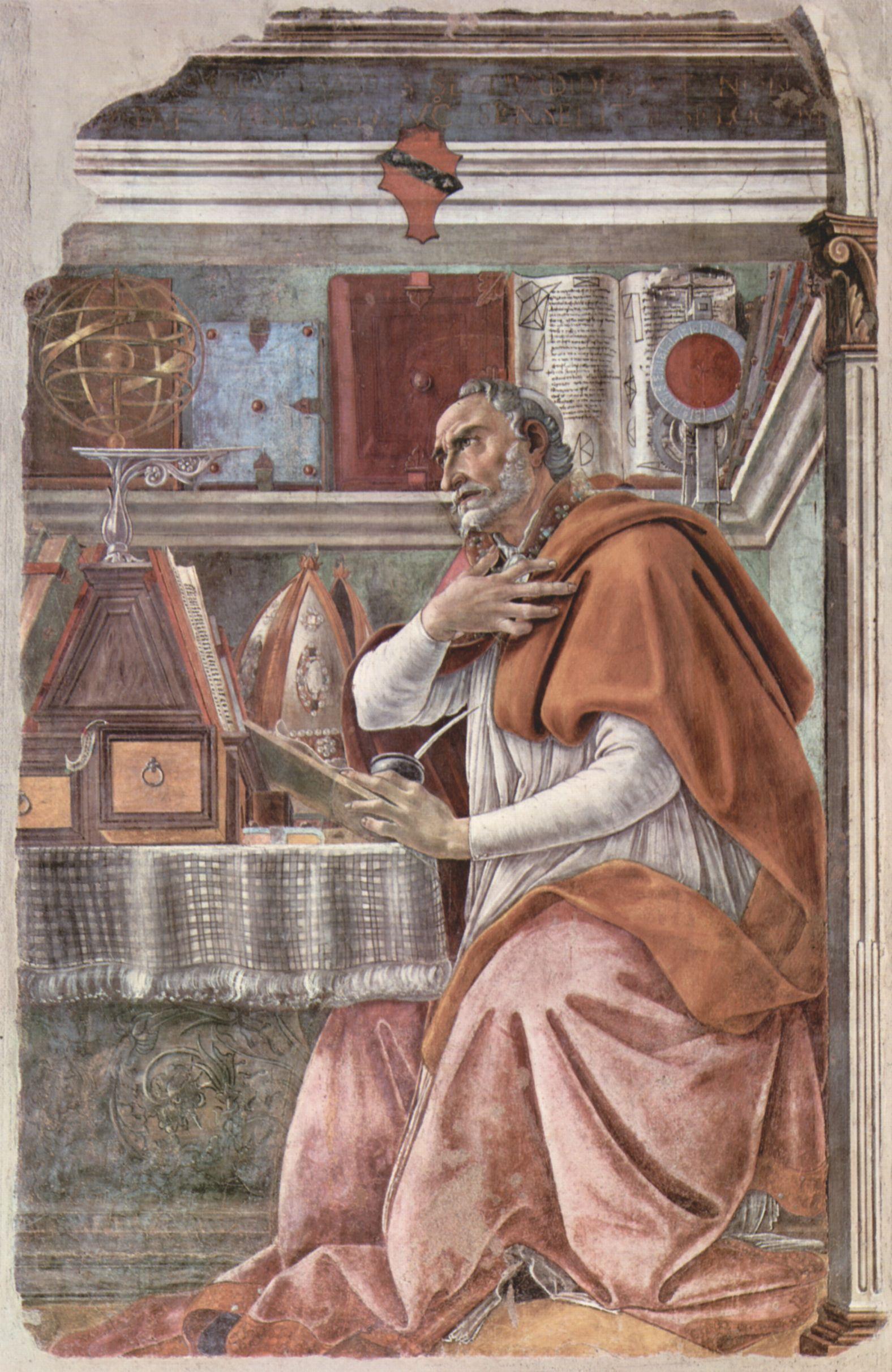 Sandro Botticelli: Hl. Augustinus in betrachtendem Gebet
