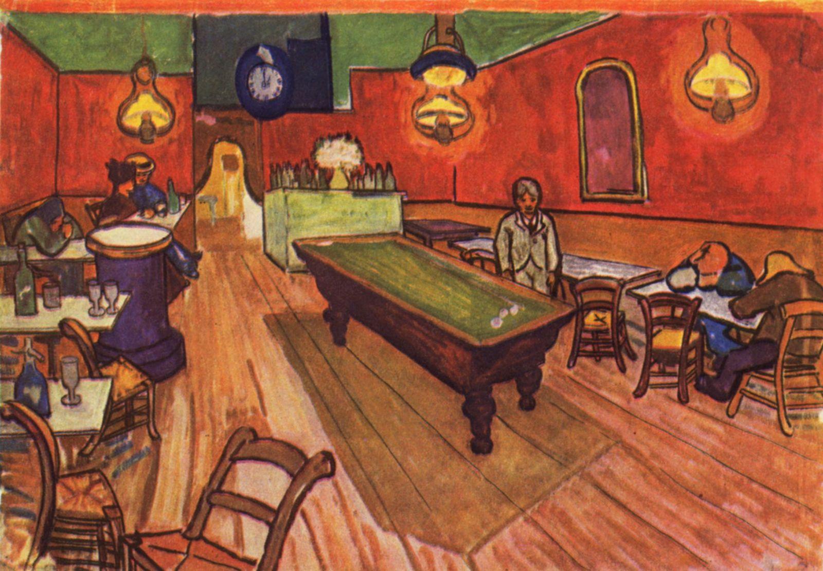 Cafe De La Gare Vincent Van Gogh