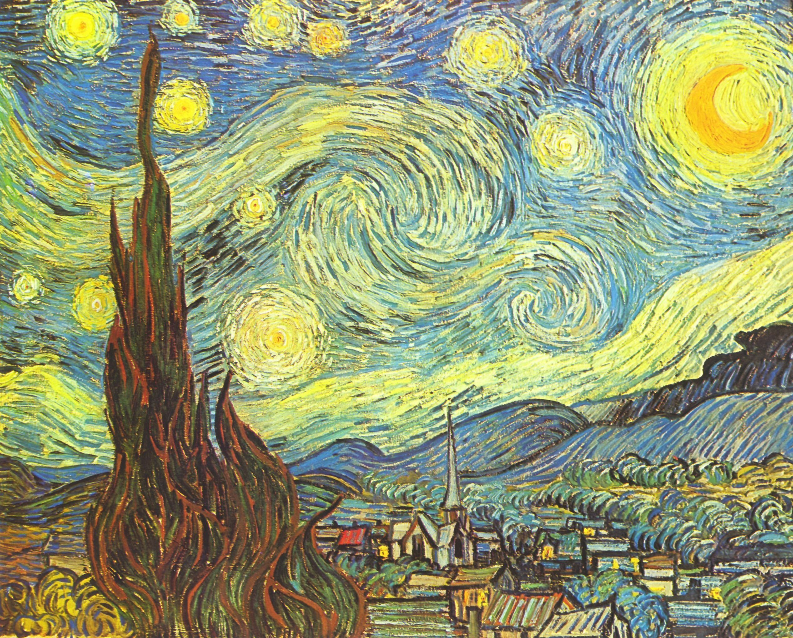 gro bild vincent willem van gogh sternennacht. Black Bedroom Furniture Sets. Home Design Ideas